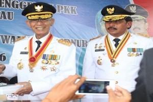 Gubernur Kepri HM Sani dan Wakil Gubernur Kepri H Nurdin Basirun. foto hms (potretkepri.com)