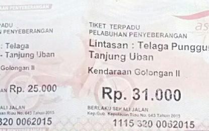 Tiket Penyebrangan T Punggur-Tanjung Uban Belum Turun