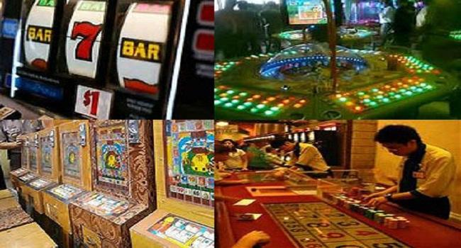 Beberapa jenis mesin jackpot yang digunakana sebagai sarana perjudian lokasi gelanggang permainan. foto / ist. potretkepri.com)