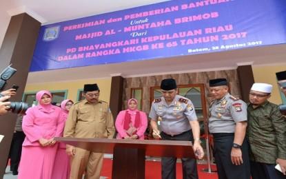 Kapolda Kepri Resmikan Masjid Al-Muntaha