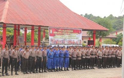 Polda Kepri Gelar Apel Pasukan Aman Nusa II
