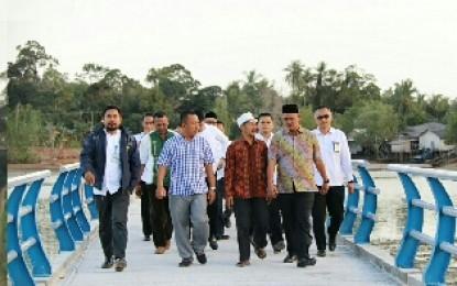 Bupati Bintan Tinjau Pembangunan Jembatan Pengujan