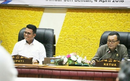 Bupati Bintan Sampaikan LKPJ Tahun Anggaran 2017