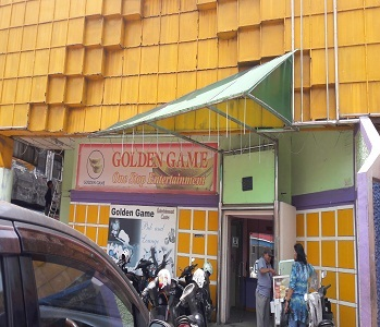 Golden Game, salah satu gelanggang permainan di Kota Batam.tempat ini disebut-sebut dikelola Tua Tau. foto (amr/potretkepri.com)