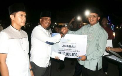 Festival Lampu Cangkok Kabupaten Bintan , Juara 1 Desa Busung