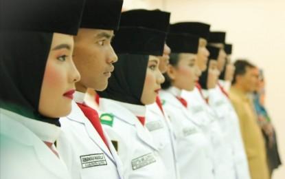 Wakil Bupati Bintan Kukuhkan Paskibraka Tk Kabupaten Bintan Tahun 2018