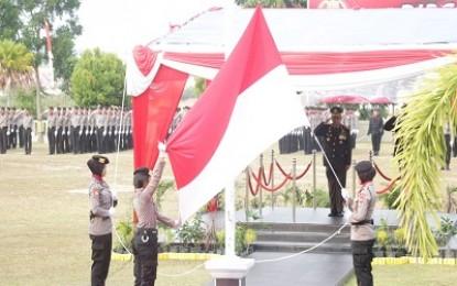 Wakapolda Kepri Pimpin Upacara HUT RI ke-73