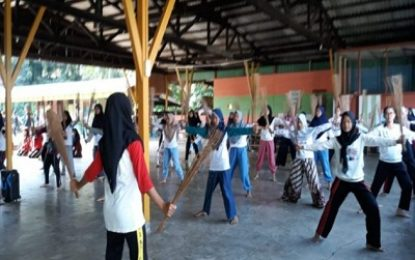 Dinas Kebudayaan Lingga Lakukan Persiapan Penyambutan Presiden RI Joko Widodo