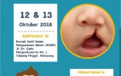 BP BATAM GELAR BAKTI SOSIAL OPERASI BIBIR SUMBING DAN BERSIH-BERSIH TELINGA