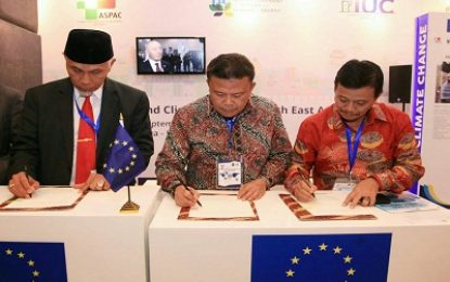 Raja Ariza wakili walikota se- Asia Pasific tandatangani perjanjian global Adaptasi Perubahan Iklim dan Ketahanan Energi