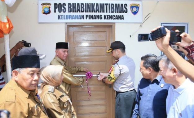 Pos Bhabinkamtibmas Kelurahan Pinang Kencana diresmikan