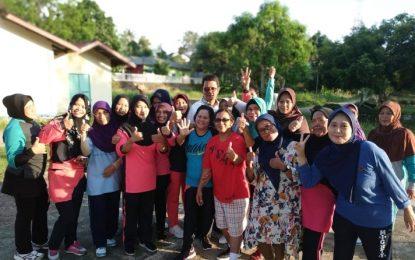 Bupati Bintan Ikuti Senam Sehat Bersama Warga Kampung Gunung Lengkuas