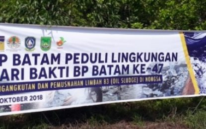 BP Batam, Pemko, Pemprov dan Green Indonesia Musnahkan Limbah B3