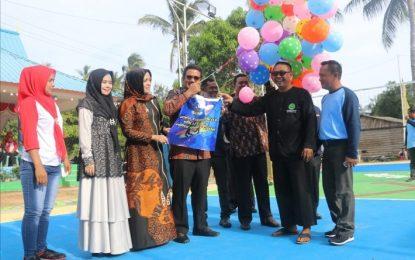 Bupati Bintan Buka Turnamen Volly Ball Desa Malang Rapat
