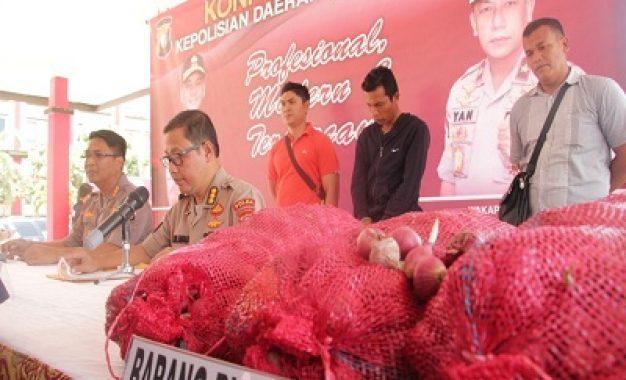 Nakhoda KM Dani dan 1000 Karung Bawang Merah India Diamankan