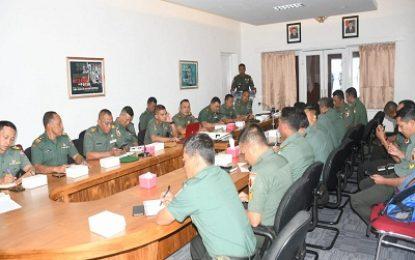 Korem 083/Baladhika Jaya Gelar Sosialisasi Proses Penyampaian Keputusan Taktis