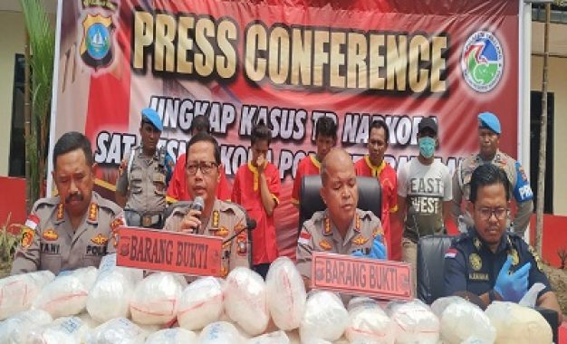 Penyelidikan Berjalan Selama Dua Bulan,Polresta Barelang Ungkap Jaringan Narkotika 38,6 Kg