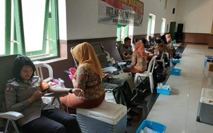 HUT TNI, Prajurit Kodim Jombang Sumbangkan Darah