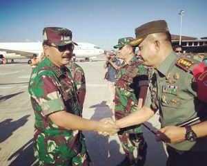 Pangdam dan Danrem 083 Baladhika Jaya Sambut Kunjungan Panglima TNI