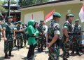 Memeriahkan HUT TNI ke 74, Danmenarmed 1/PY/2 Kostrad ikuti Karya Bakti dan Bakti Sosial