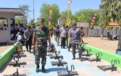 Danrem 084/Bhaskara Jaya Sambut Kedatangan Gubernur Jawa Timur di Pulau Sapudi