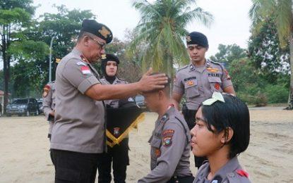Wakapolda Kepri Pimpin Pembaretan 5 Perwira Remaja dan 113 Bintara