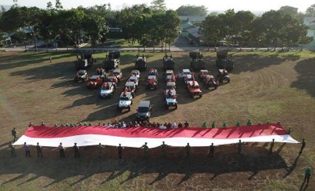 Meriahkan Hari Pahlawan Nasional, Danmenarmed 1/PY/2 Kostrad Gelar Touring Rubicon Broser 4×4