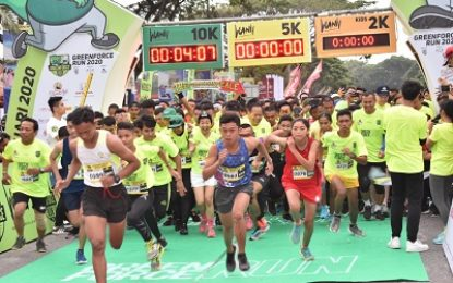 Aspam KSAD Lepas Peserta Lari Green Force Run