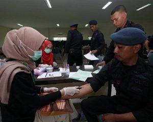 Kembali dari Penugasan Kemanusiaan di Natuna , 229 Personel Polda Kepri Terbagi  4 Kloter