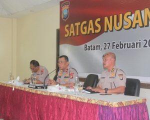 Wakapolda Pimpin Rapat Koordinasi Satuan Tugas Nusantara Polda Kepri