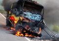 Kecelakaan Maut Pengendara Motor Tewas Terbakar