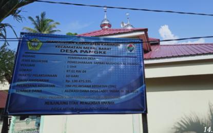 Pekerjaan Mushollah Al Hikmah Kampung Suka Damai Gunakan Dana Desa, Kurang Transfaran