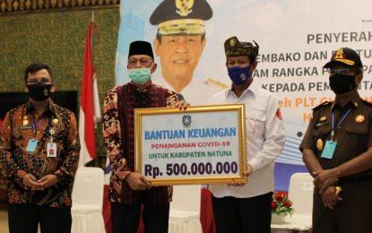 Bupati Hamid Rizal,Terima Langsung Bantuan dari Plt Gubernur Kepri untuk Masyarakat Natuna