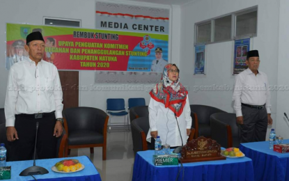 Wakil Bupati Natuna Gelar Video conference Rembug Stunting Tingkat Kabupaten Natuna Tahun 2020